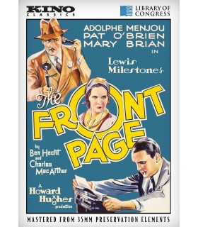 The Front Page (1931) DVD