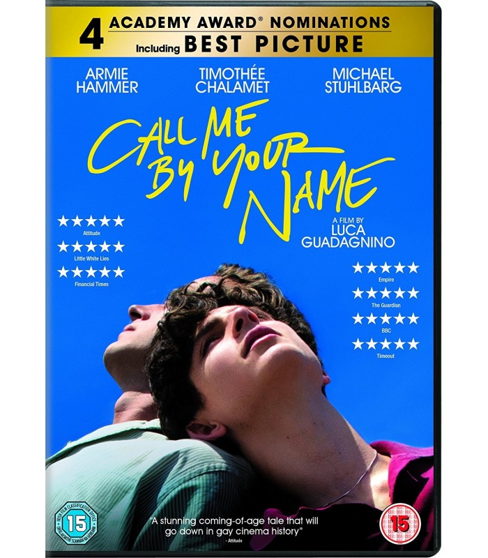 Call Me by Your Name (2017) DVD 7.3.