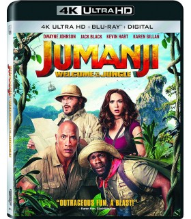 Jumanji: Welcome to the Jungle (2017) USA (4K UHD + Blu-ray) 28.5.