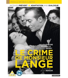 Le Crime De Monsieur Lange (1936) DVD 29.8.
